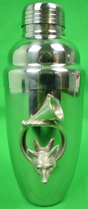 Fox-Head/ Hunting Horn Chrome Cocktail Shaker