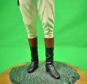 Jockey c1982 Mascot on Wood Plinth Base