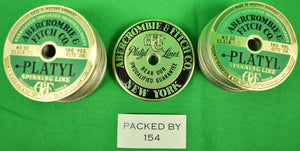 """Abercrombie & Fitch c.1960s Platyl Spinning Line (513) Labels"" 'Deadstock' in Box!"