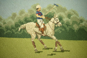 Polo Needlepoint Bridge Table Cover