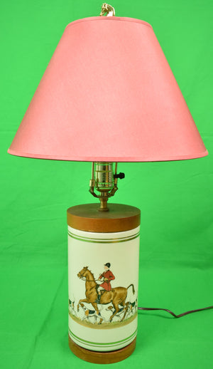 Cyril Gorainoff Fox-Hunt Hand-Painted Table Lamp