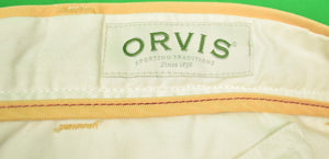 "Orvis Melon Chinos w/ Emb Hula Girls Sz 40""W"