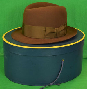 Lock & Co Fedora Felt Hat for Brooks Brothers Sz: 7 New in Box!