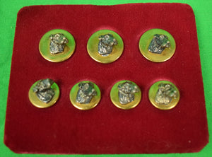 Chipp Dog-Head Brass Blazer Buttons New/ Old Stock in Box!