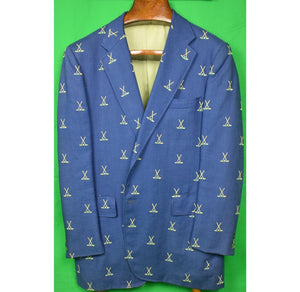 Chipp Moygashel Linen Blazer w/ Emb X'd Golf Clubs Sz 44XL (Sold!)