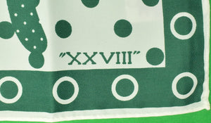 """21"" Club Green/ White Jockey XXVIII Scarf New in Envelope"