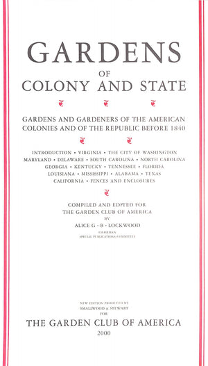 """Gardens of Colony and State"" 2000"
