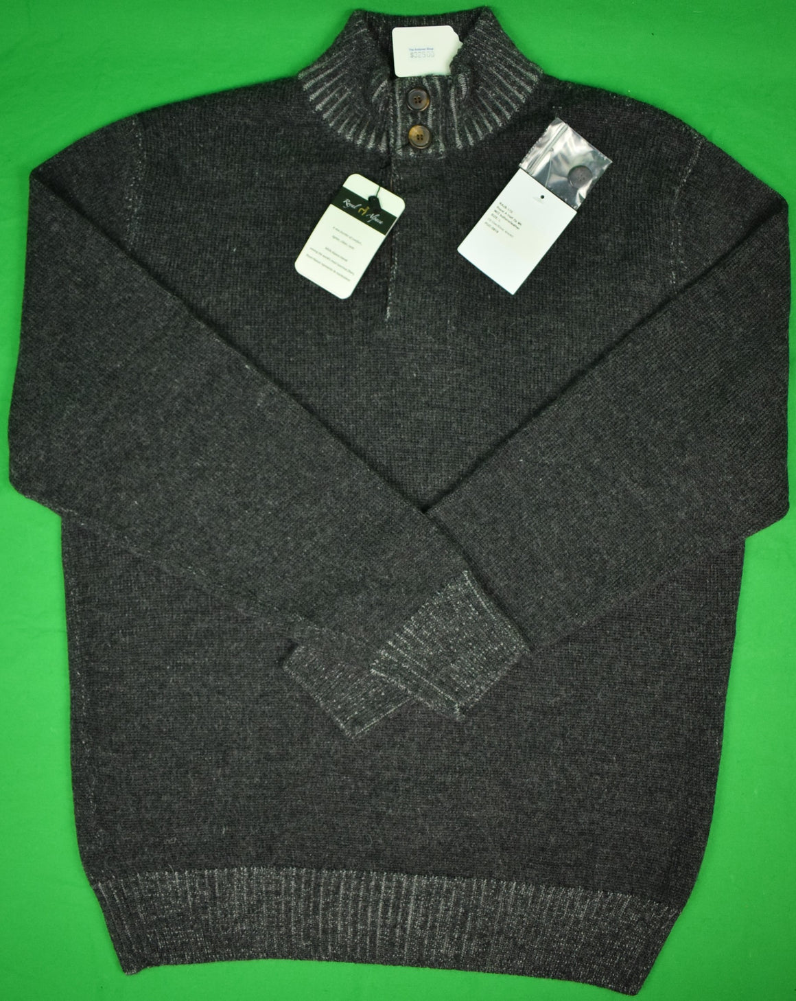 The Andover Shop Royal Alpaca Char/ Silver Grey Pullover Sweater Sz: L (New w/ Tags!)
