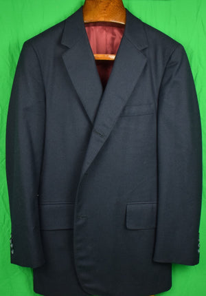Chipp Navy Flannel Blazer Sz: 42R