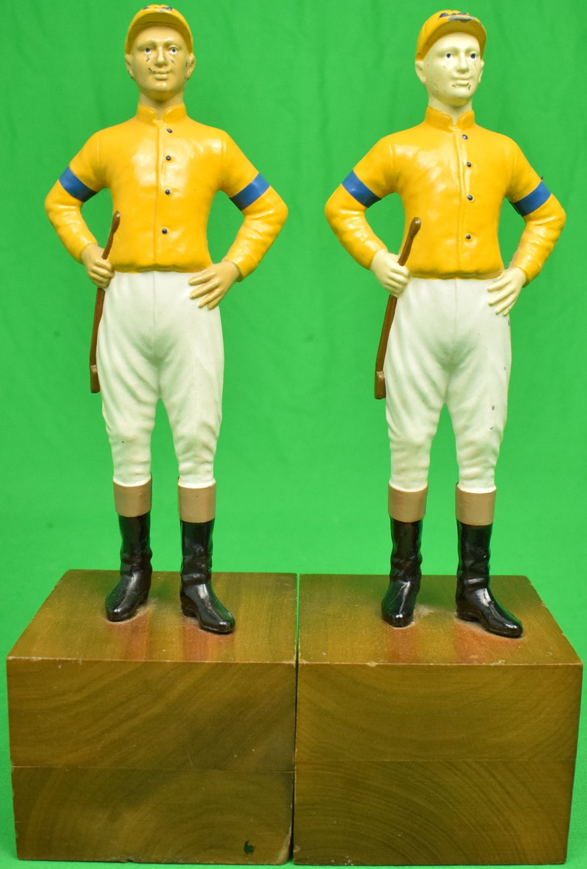 "Pair of ""21"" Club New York Jockey Bookends"