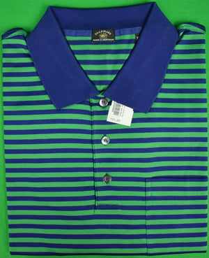 Maus & Hoffman Green/Navy Stripe Polo Shirt Sz: XXL (New w/ Tags!)