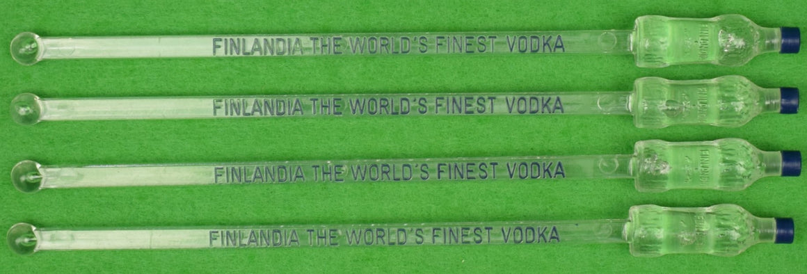 Set of 4 Finlandia Vodka Swizzle Sticks