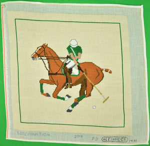 Hand-Needlepoint c.2019 Polo Player
