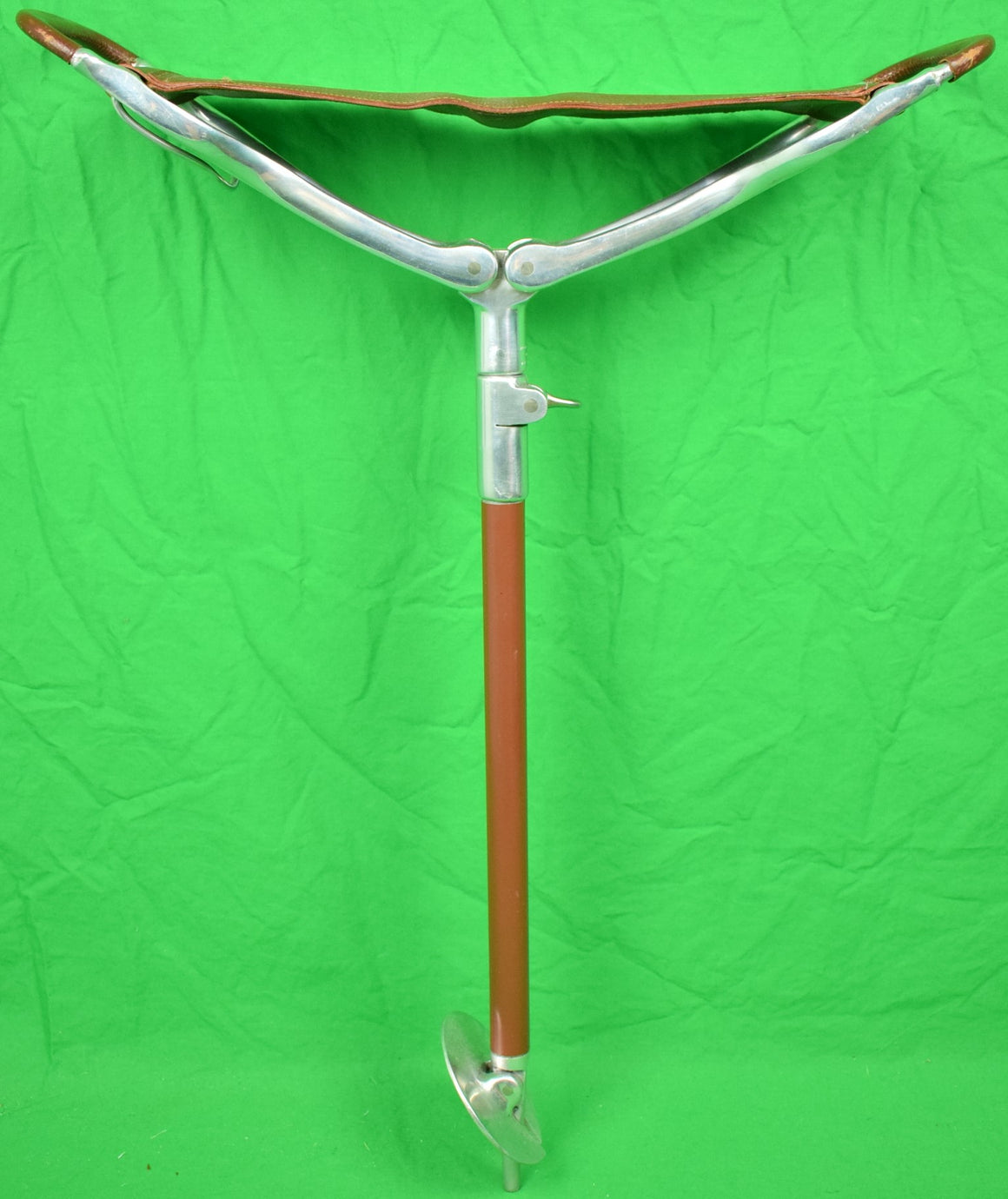 Abercrombie & Fitch Shooting Stick w/ P. L. N. Initials on Seat