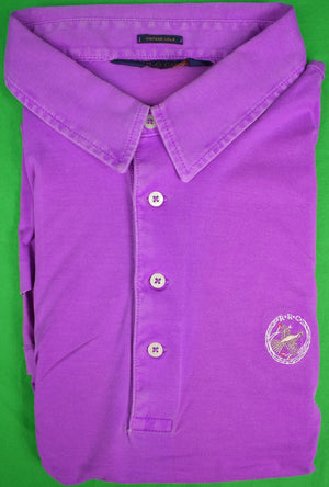 Ralph Lauren Polo Golf Purple Shirt w/ Rolling Rock Club Logo Sz: XXL