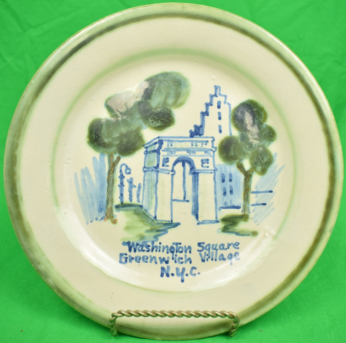 Washington Square Greenwich Village N.Y.C. Plate by John Taylor Ceramics