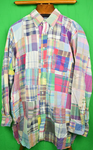 The Andover Shop Patch Madras BD Spt Shirt Sz: XL