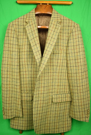 The Andover Shop Heather Tweed Windowpane Sport Jacket Sz: 44 LG New w/ Tag!