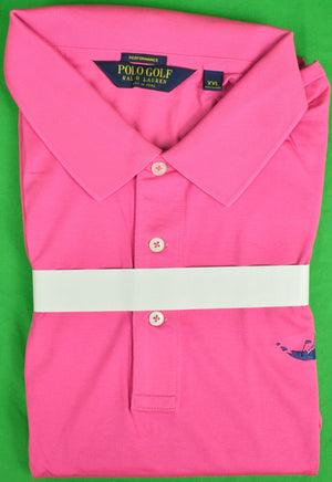 Ralph Lauren Polo Golf Raspberry S/S Shirt w/ Miacomet Club of Nantucket Logo Sz: XXL