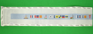 """Needlepoint 18 ct Canvas w/ (27) Signal Flags & (8) Lighthouses"""
