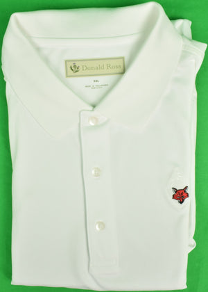Donald Ross White Golf Shirt w/ Fox Chapel Golf Club Logo Sz: XXL
