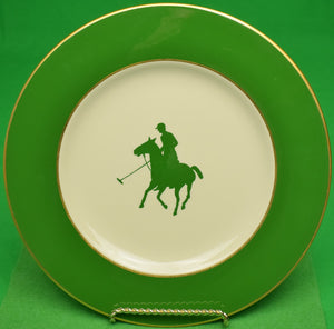 Mayer China Dinner Plate w/ Green Polo Player