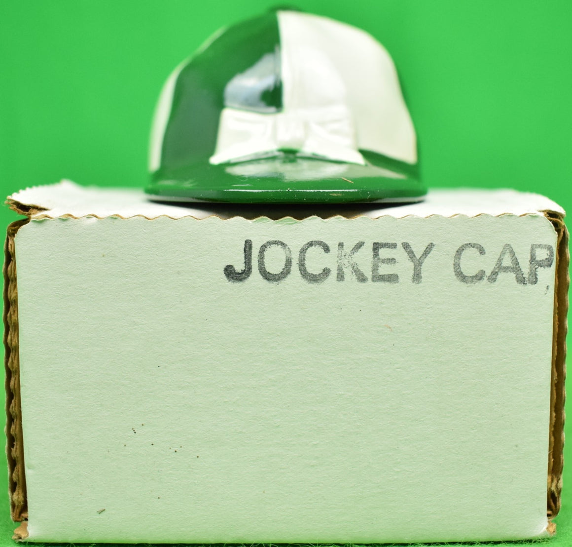 """21"" Club Green & White Jockey Cap Bottle Opener (New in Box!)"