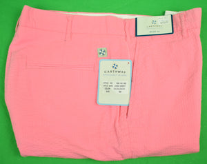 "The Andover Shop by Castaway Coral Seersucker Cisco Shorts Sz: 32""W"
