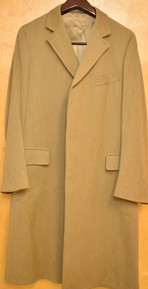'Chipp East 44th St Covert Cloth Paddock Coat w/ Horn Buttons' Sz 42 Long