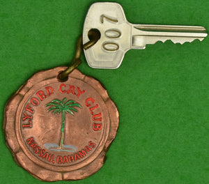 Lyford Cay Club, Nassau, Bahamas 007 Key & 007 Key Brass 'Coin' Fob