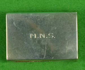Sterling Matchbook M.N.S. Holder