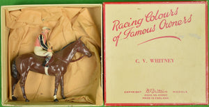 Britains Racing Colours of Famous Owners: C. V. Whitney (SOLD)