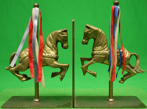 Pair of Bronze Carousel Horse Bookends