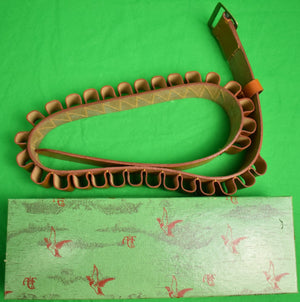 "Abercrombie & Fitch 12 Gauge Shell Belt New/ Old Stock in A&F Box Sz: 38""W"