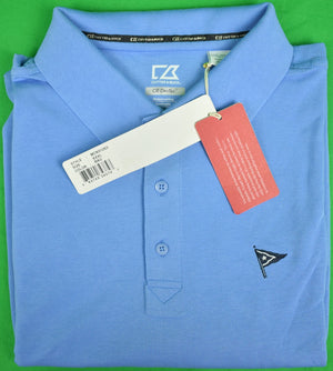 Cutter & Buck Ocean Blue Polo Shirt w/ Nantucket Yacht Club Logo Sz: XXXL (New w/ Tags!) (SOLD!)