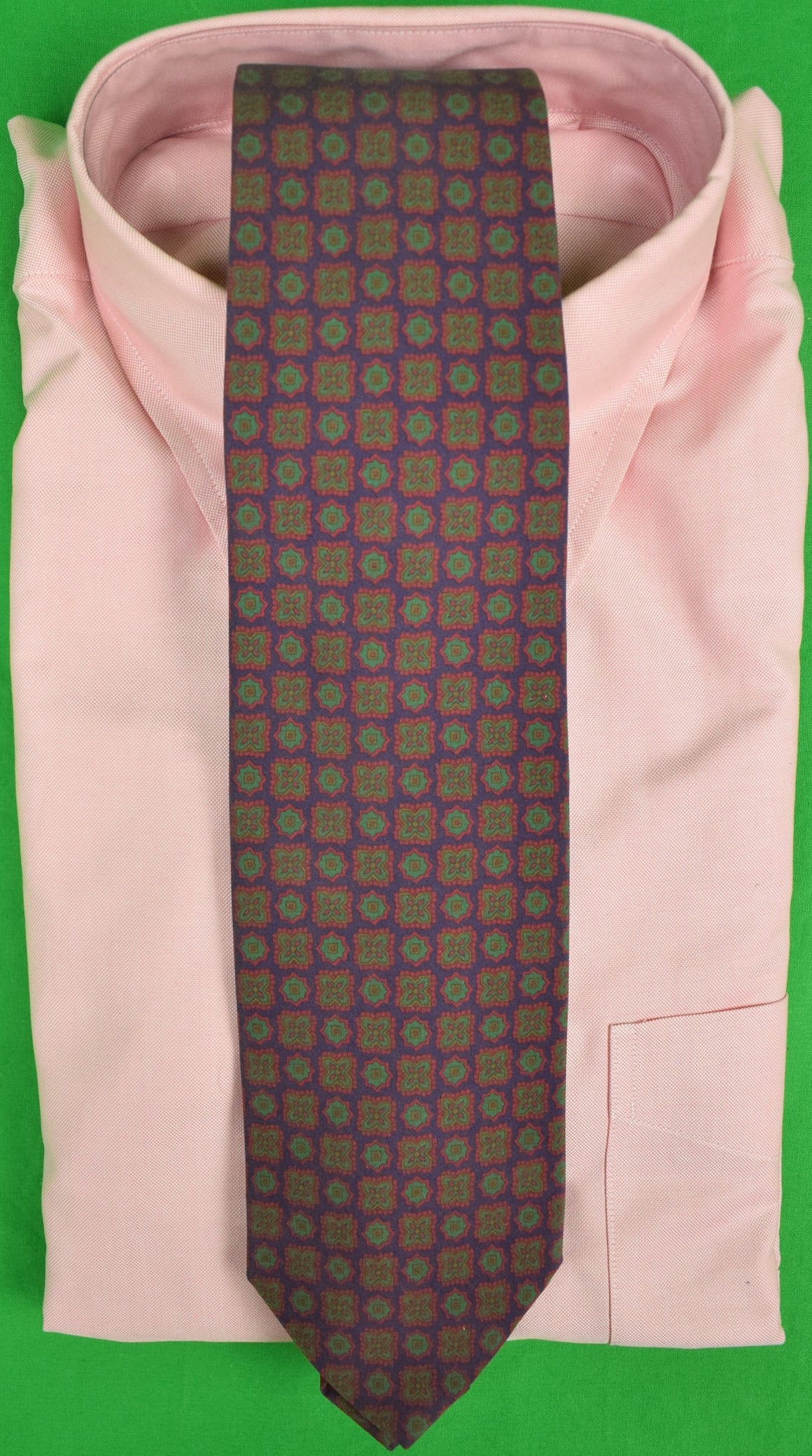 The Andover Shop Ancient Madder Foulard Print Tie