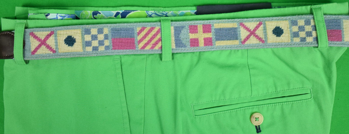 Vineyard Vines Signal Flag Needlepoint Belt Sz: 44