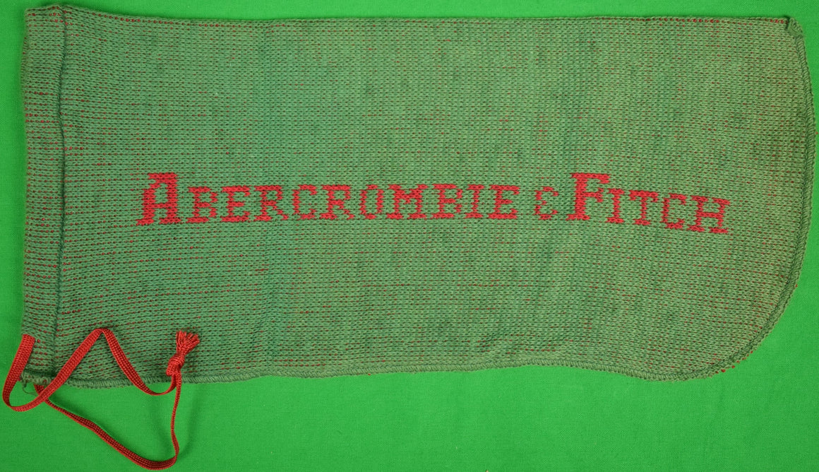 "Abercrombie & Fitch Green Knit Shoe Bags Sz: 13.5""L x 6""H"