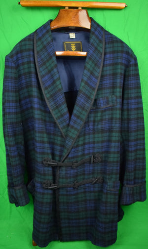 Ben Silver Black Watch Tartan Smoking Jacket Sz 48