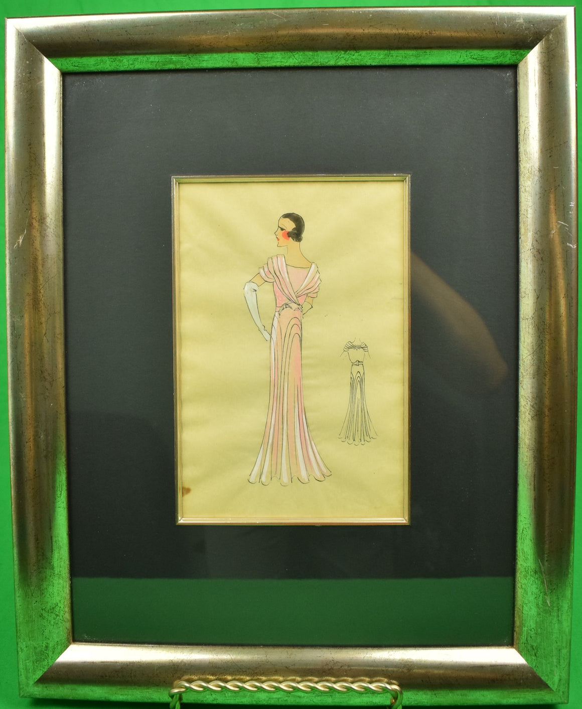 Lanvin of Paris c1920s Fashion Model Original Watercolour