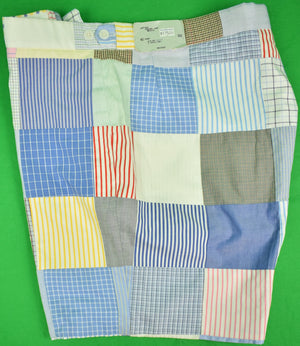 The Andover Shop Patch Shirting Panel Bermuda Shorts New w/ Tag! Sz: 40 Short