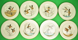 Set of 8 Vintage F. Vosmansky for Abercrombie & Fitch Game Bird Dinner Plates (SOLD)