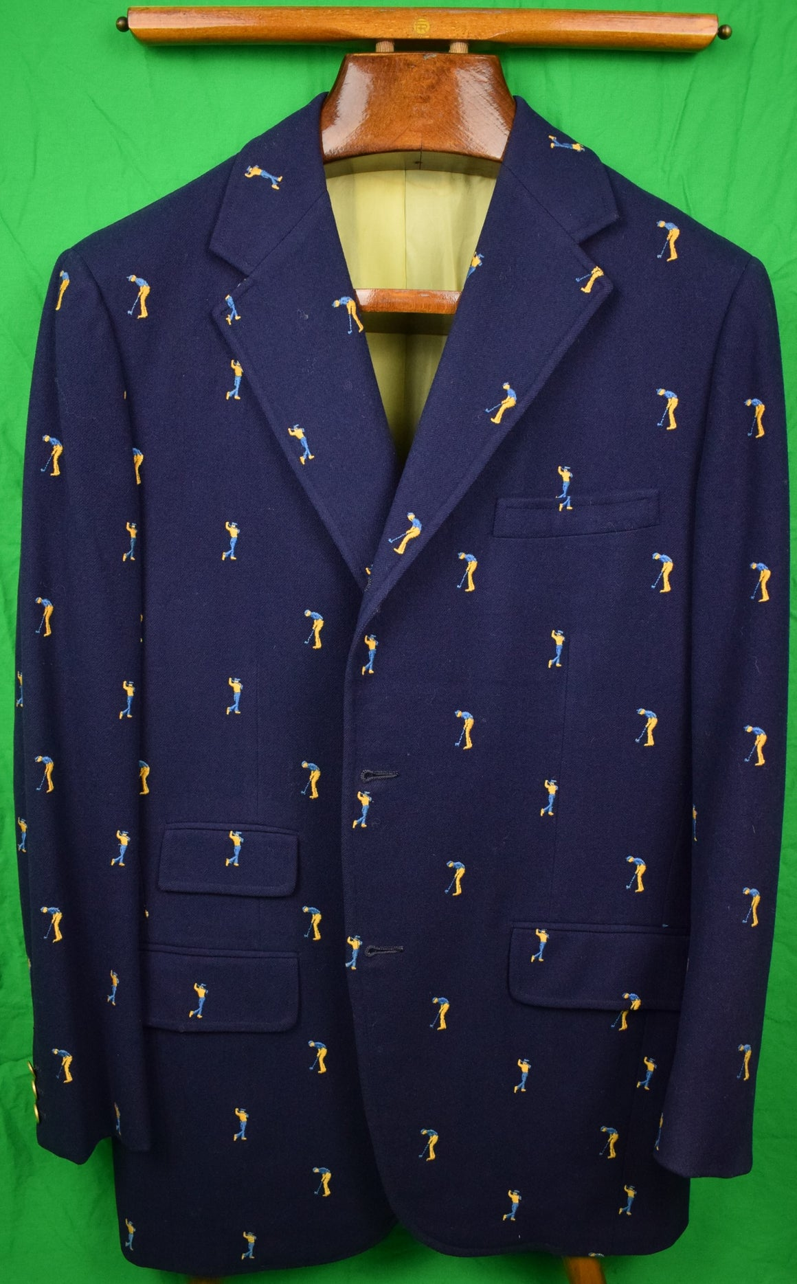 Chipp Navy Flannel Embroidered Golfer c1972 Blazer (Sold!)