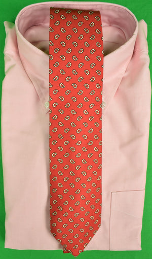 The Andover Shop Red English Silk Paisley/ Foulard Tie