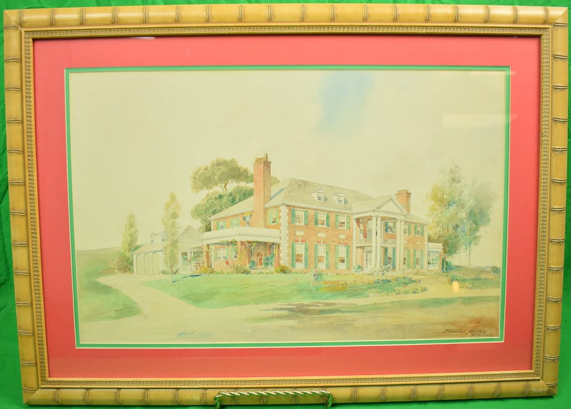 "Original Watercolour ""Clarence Birdseye Estate"" in Gloucester, MA"