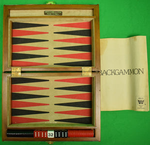 Abercrombie & Fitch Travel Backgammon Board Made in Italy