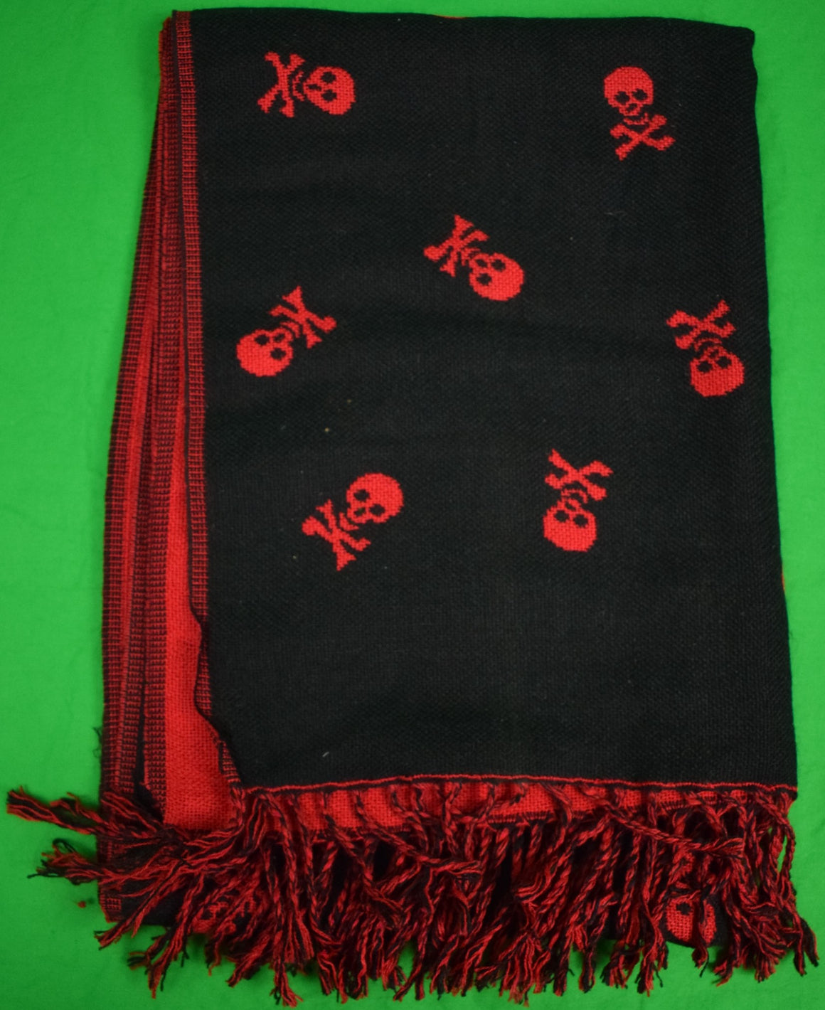 Skull & Crossbone Black & Red Scarf