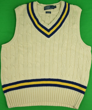 Polo by Ralph Lauren Cable Cricket Sweater Vest Sz: XL