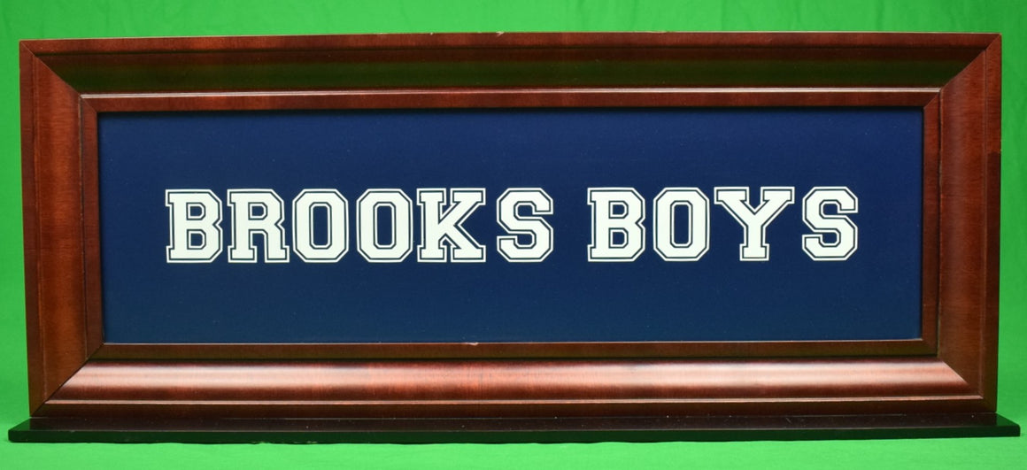 """Brooks Boys Dept Store Display Sign"""