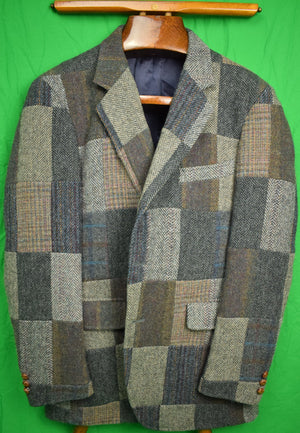 Corbin Patch Tweed Sport Jacket Sz: 39R